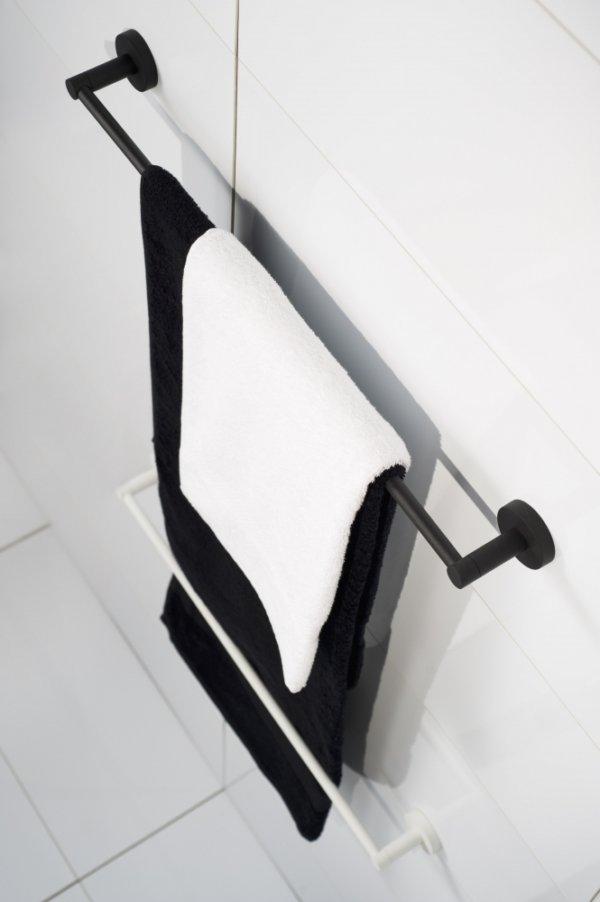Kosmos handdoekhouder mat zwart