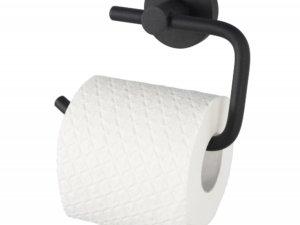 Kosmos toiletrolhouder mat zwart