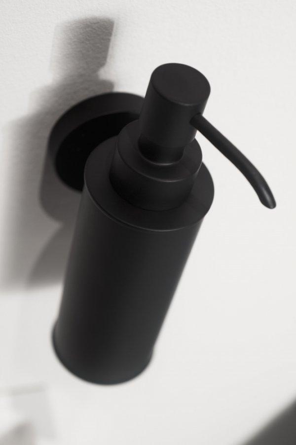 Kosmos zeepdispenser metaal mat zwart